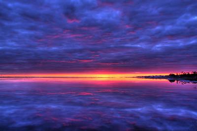 sunset on the Bogue Sound, North Carolina