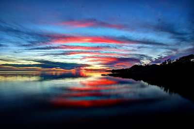 sunset Bogue Sound, North Carolina