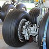 Boeing 747-400 undercarriage.