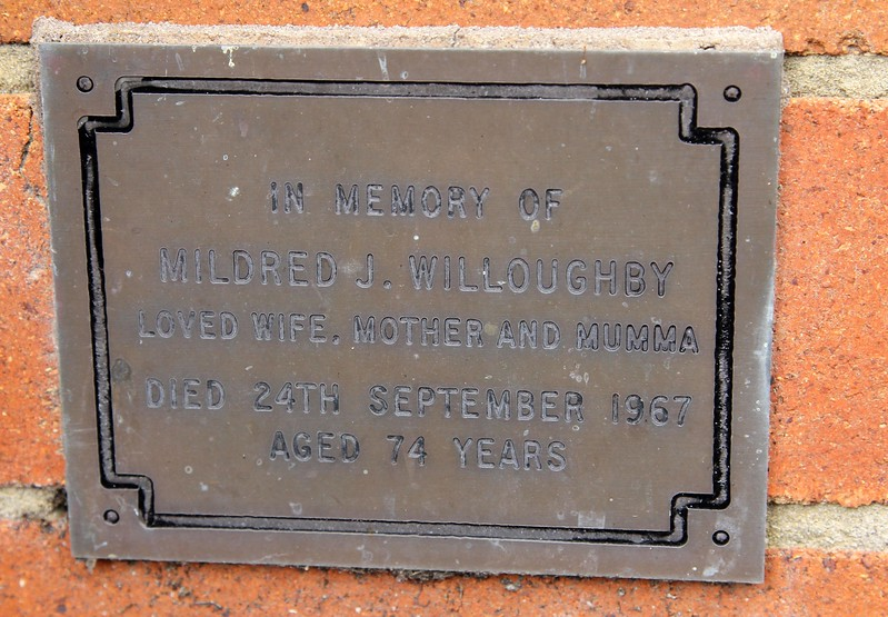 "Our dearly beloved maternal grandmother, ""Mumma"" Mildred Juilia Willoughby."