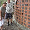 Maggie and Warwick at the Willoughby memorial plaques located withing the memorial gardens at Lane Cove Crematorium,