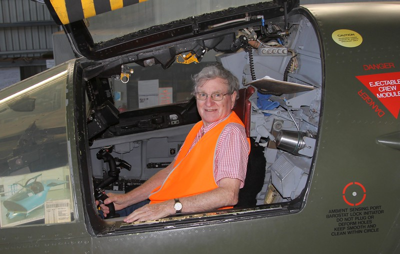 Peter in the driver's seat F-111