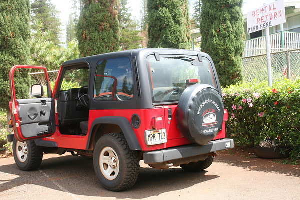 In Lana'i Town Picking up the jeep