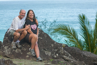 Our hike up to heiau, the only thing my new hip bothers these days is Homeland security at the airport