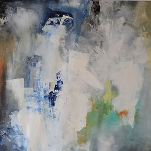 Blue-Green-White by Haxton, 40x40 painting on canvas, AEKH13 JPG
