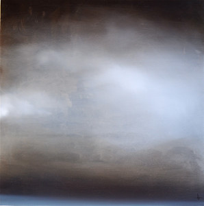 Haxton_grey sky, apx 48x48 painting on wood box with resin like glaze JPG