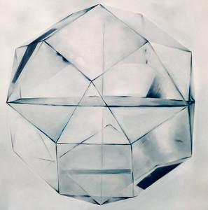 "White Sphere-Haxton, 40""x40"" on canvas"