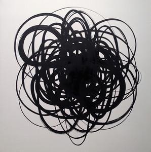 Black ON White-Haxton, 40x40 canvas