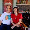 """With Kathryn Baines, Homeward Bound trainer and organizer of the """"Photos with Santa"""" Project"""