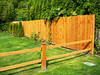 Wood rail and board fences