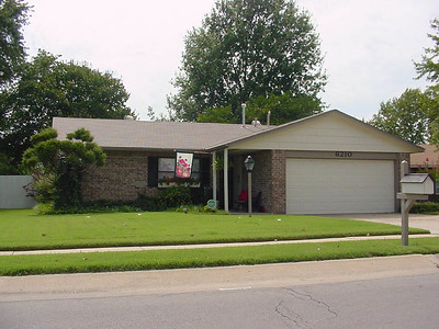 6210 S 100 E Ave.  First home in Tulsa