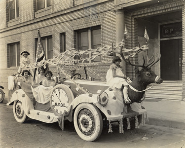 Elk's Club parade float, c 1916. #01.01.0965