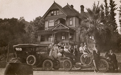 Lyman-Nevada House with Lyman Family, 1912. #1949.002.108