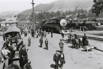 Southern Pacific Train Depot in San Luis Obispo, 1938. #1955.015.006.