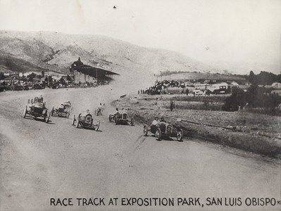 Race track at Exposition Park, San Luis Obispo. #1991.005.001.