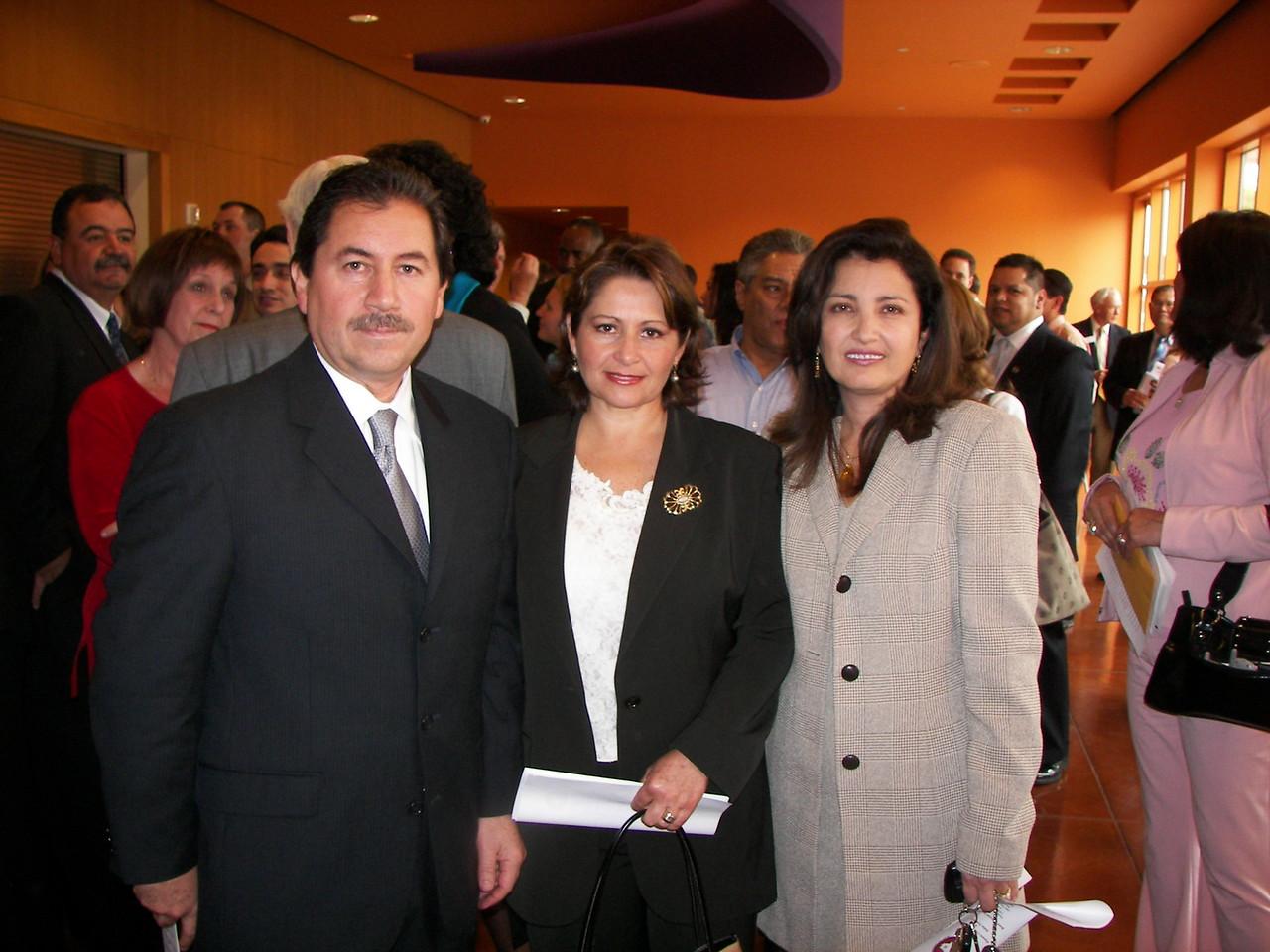 Our Ex-Officio Luis Spinola, Mrs. Spinola and Councilwoman Dr. Elba Garcia