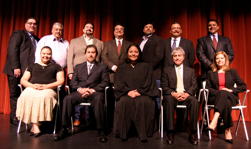 The HCADFW Board with Judge Dennise Garcia and HCADFW President John H. Martinez-D.