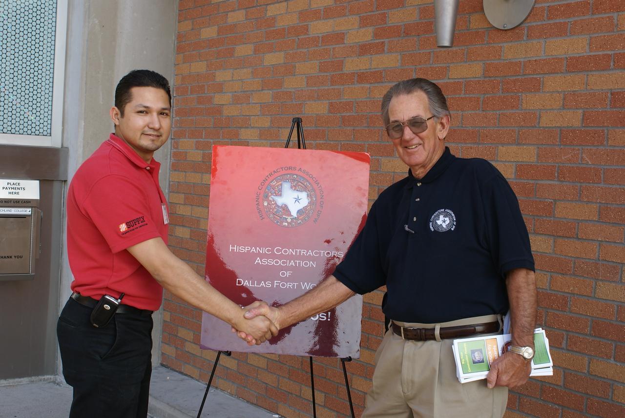 Sergio Rodriguez, HCADFW Development and Charles Ogle, Azteca Enterprises.