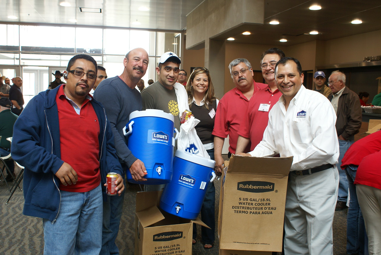 Sergio Garcia, Lowe's makes it fun for the students and provided the contractors with valuable information and a lot of fun.  Lowe's is a valuable partner of the HCADFW.