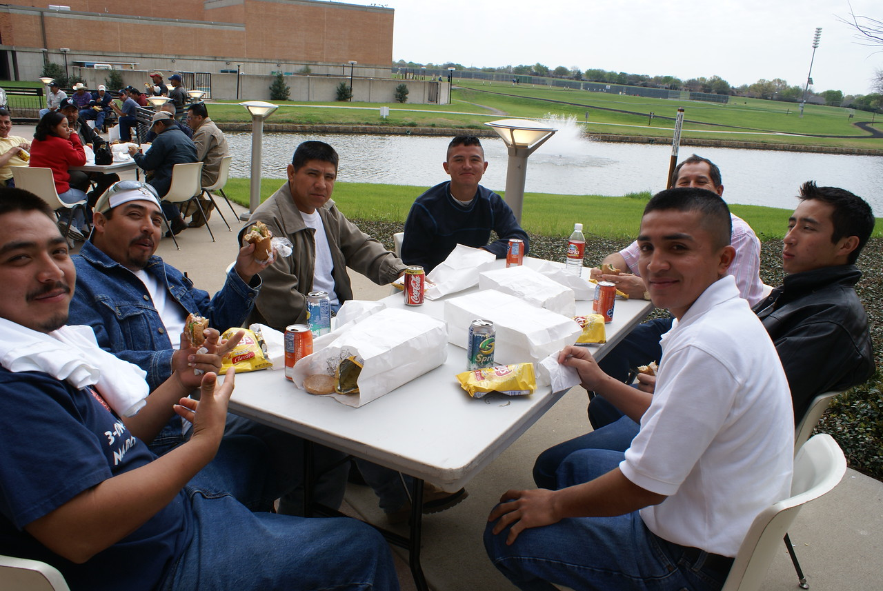 Students enjoyed a scenic lunch at the beautiful Richland Campus.  Richland was closed for spring break, but opened just for the HCADFW.  Thank you, Celes and your great team.