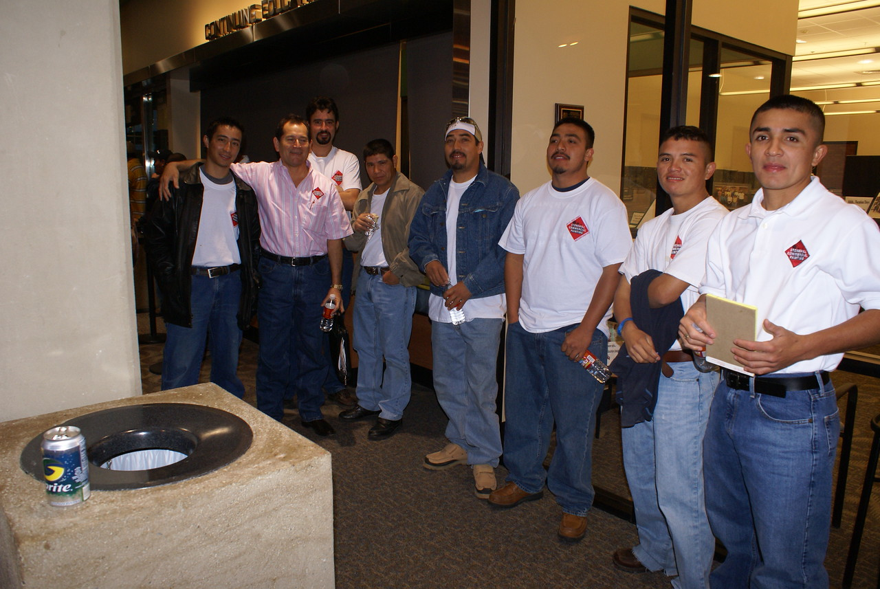 Painters extrodanairs:  The Stonehill Commercial Painting, Inc. team owner Elvis Maldonado.