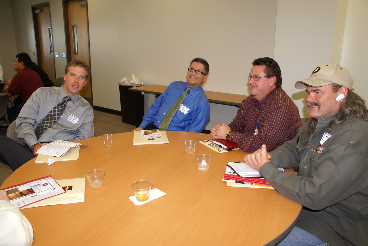 Matt Frey and John Leos with Turner Construction and HCADFW Guests