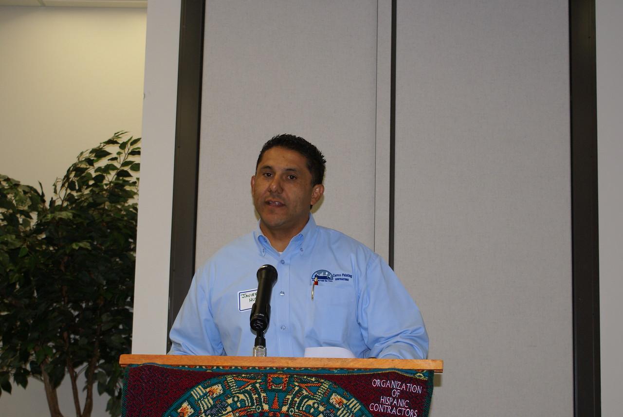 HCADFW Vice Chair Javier Huerta, Carrco Painting spoke on upcoming HCADFW Seminars