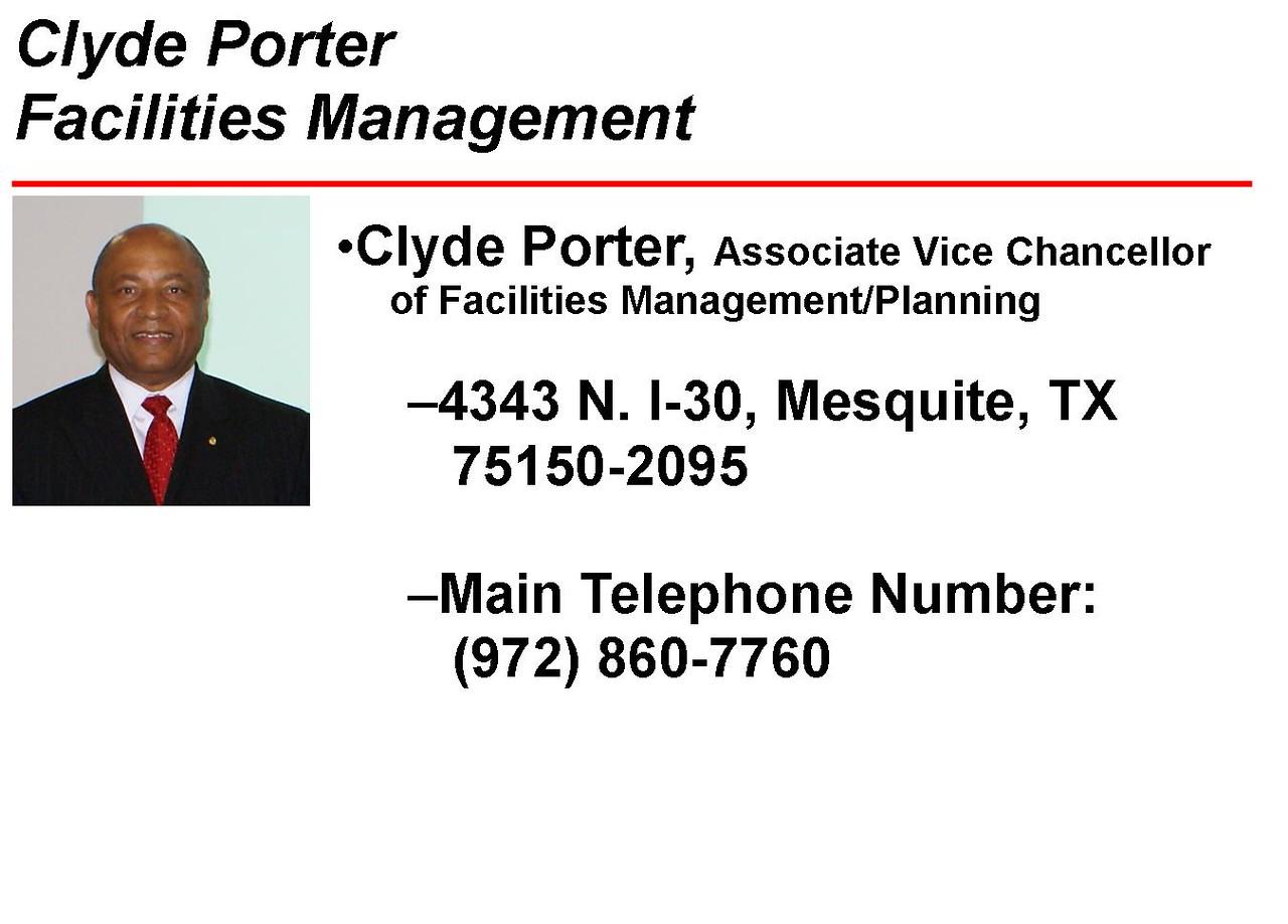 Luncheon Speaker - Clyde Porter