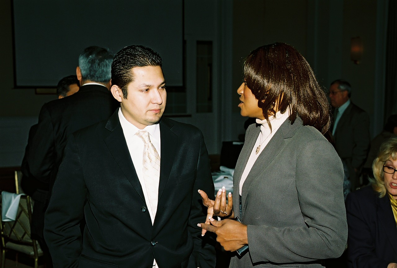 Sergio L. Rodriguez, HCADFW Development Manager and Charlotte Thompson, Bank of America