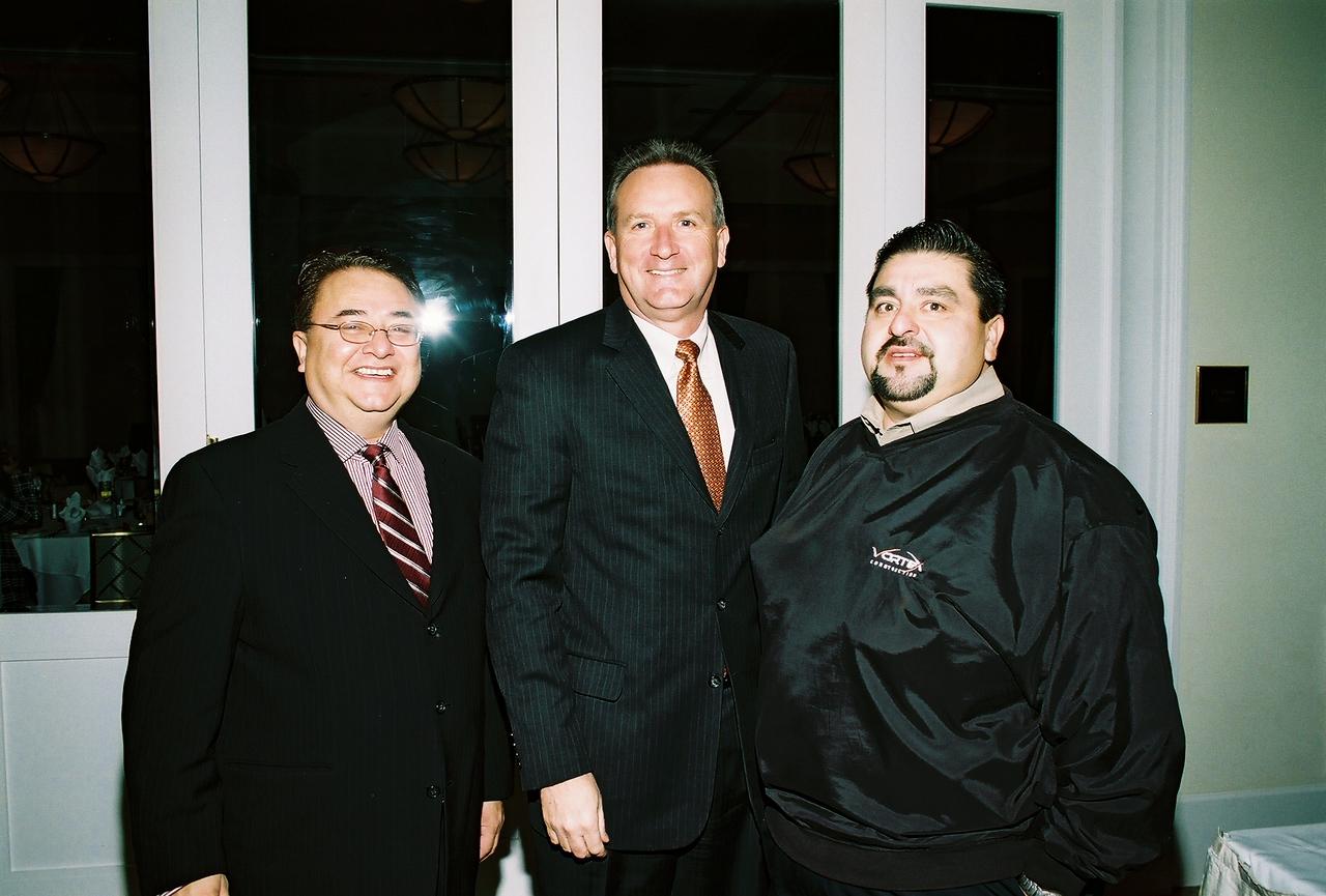Chris Escobedo, HCADFW Board Chairman; Jeff Fagan, DFW Airport and Adam Treviño, HCADFW Past Chairman