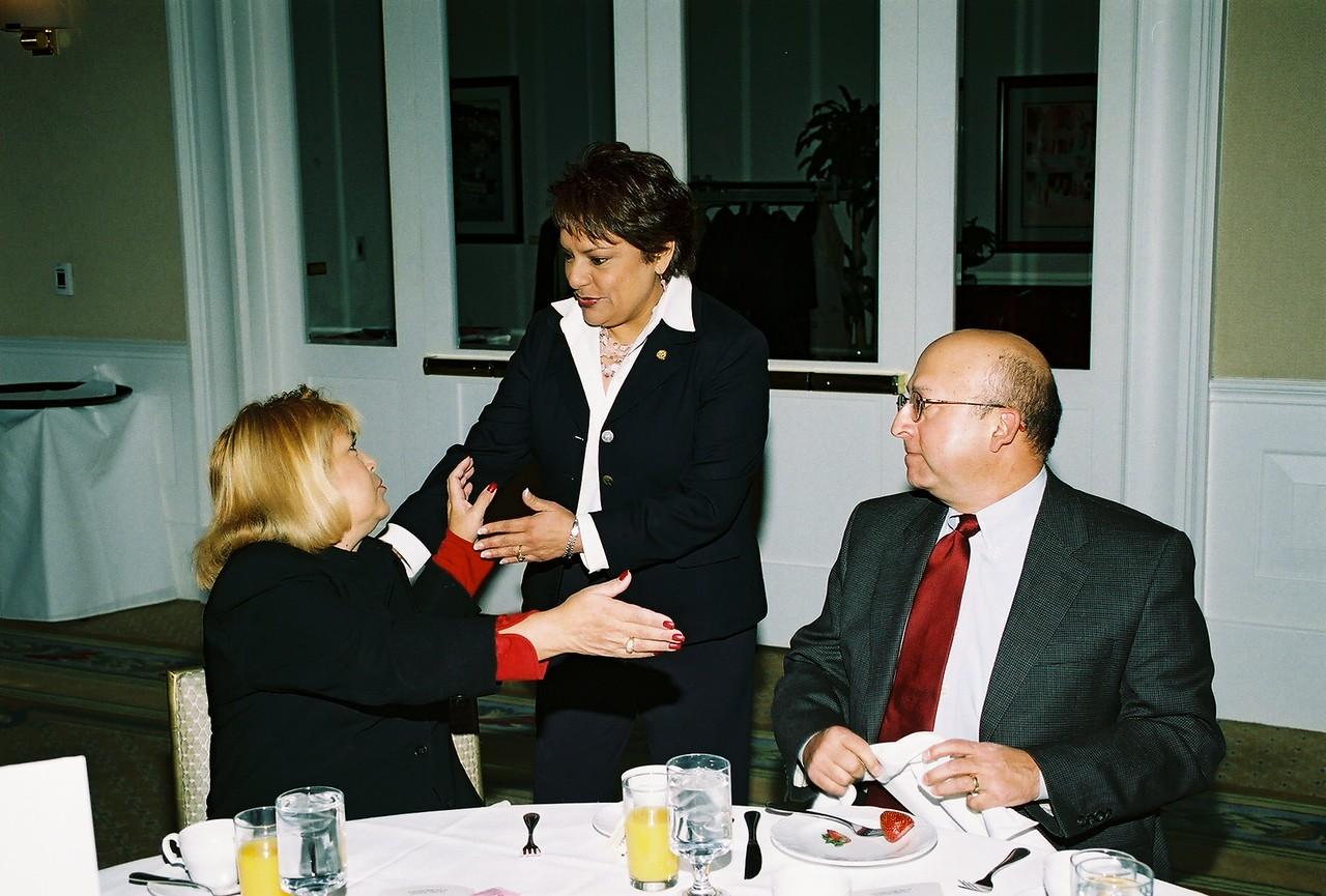 Pauline Medrano, Dallas City Council District 2 greats Pat Gorman, Pegasus Texas Construction, LP and Hector Escamilla, GDHCC Past Chairman