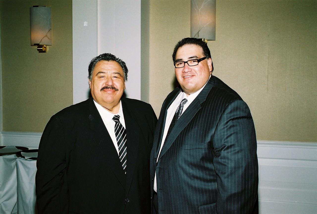 Frank Cortez, DART and John H. Martínez-D, HCADFW President