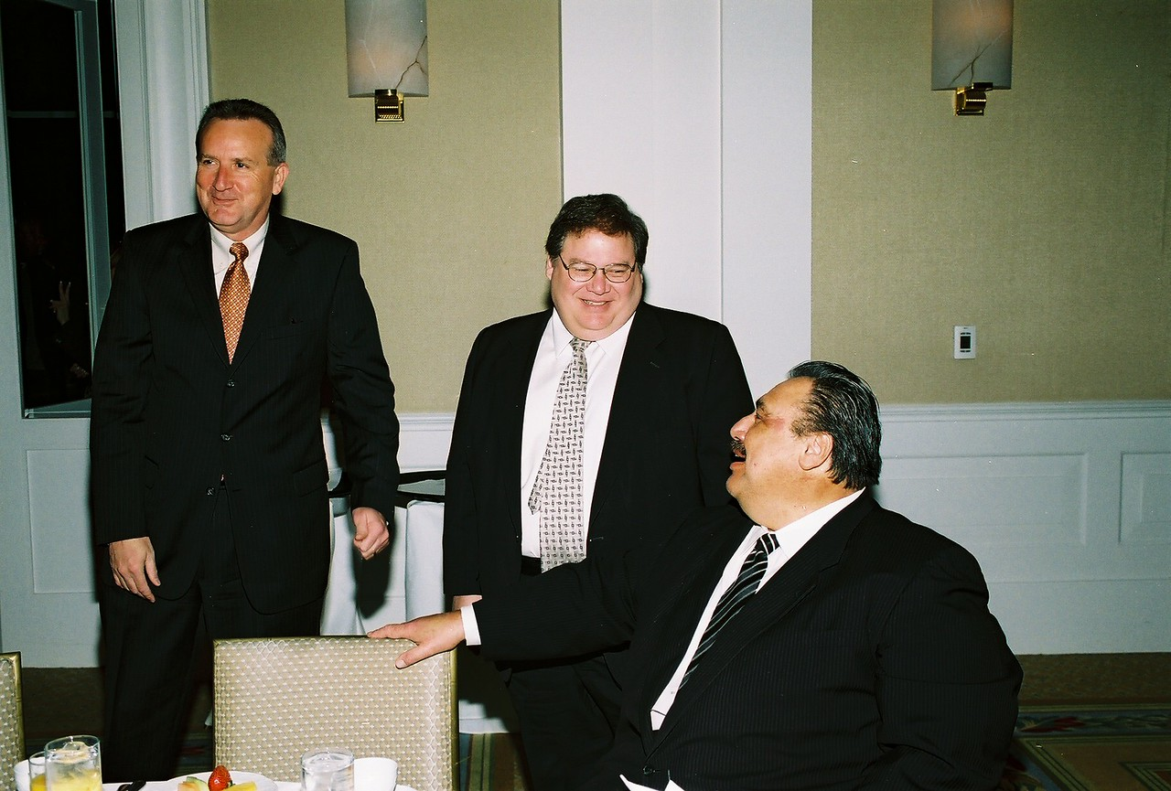 Jeff Faga, DFW Airport; GHDCC Past Chairman Victor Zepeda and Frank Cortez, DART