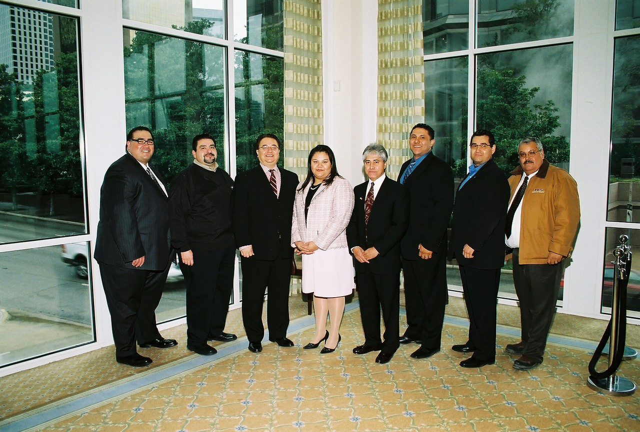 HCADFW Board Members at the Pillars Breakfast on January 31, 2007 at the Belo Mansion