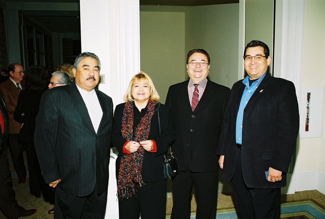 Felix Galan, DFW Airport; Pat Gorman, Pegasus Texas Construction, LP;  Chris Escobedo, HCADFW Board Chairman and Jose Rodriguez, HCADFW Board Member