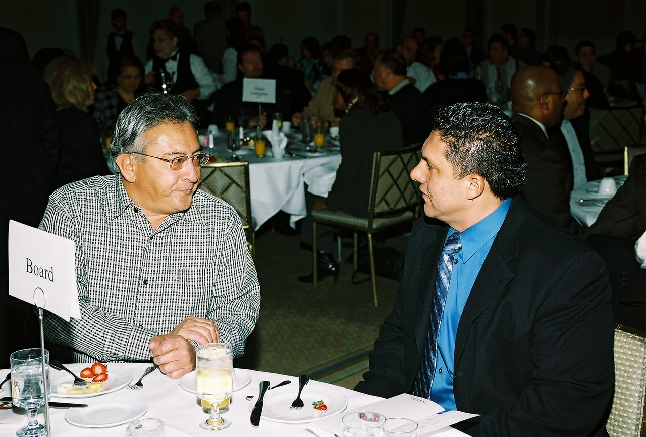 Ernesto Lopez, Lopez Electric and Javier Huerta, Carrco Painting and HCADFW Board Vice-Chair