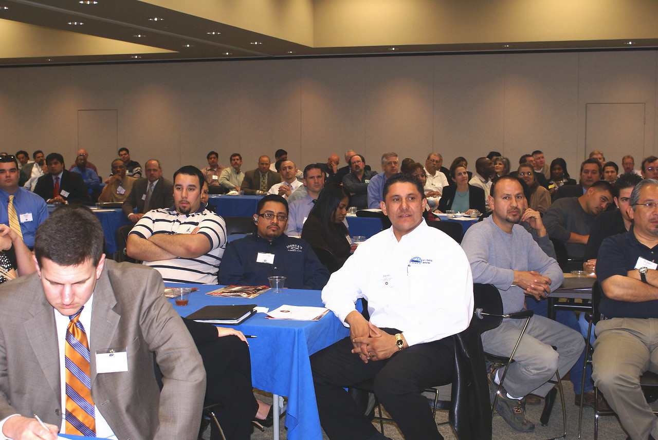HCADFW Vice Chair Javier Huerta, Carrco Painting Contractors, Inc. (center white shirt) at the HCADFW March 6 Procurement Luncheon