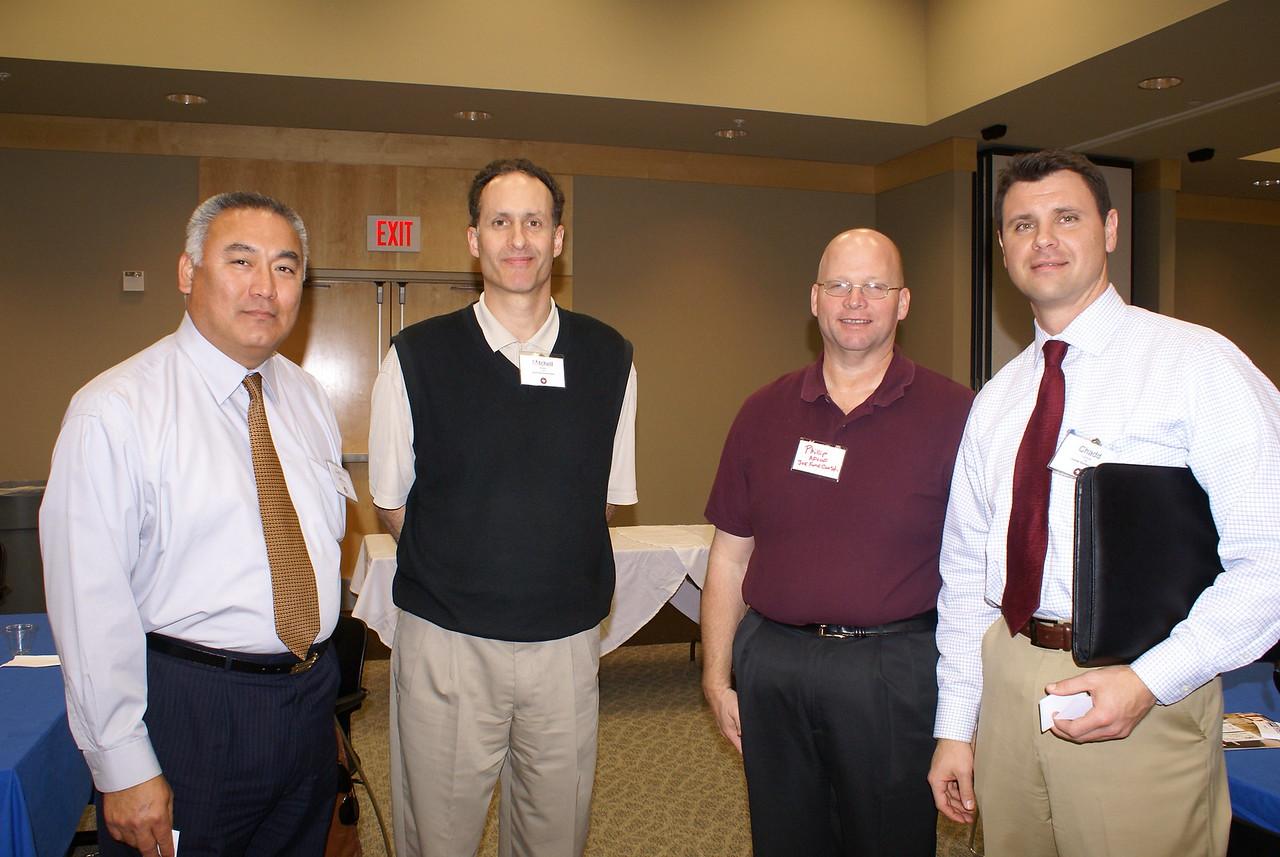 Gabriel Arcizo; Mitchell Meyer and Joe Adlof with Joe Funk Construction (DCCCD CM) and Chadd Guitreau , Charter Builders, Ltd. (DCCCD CM)