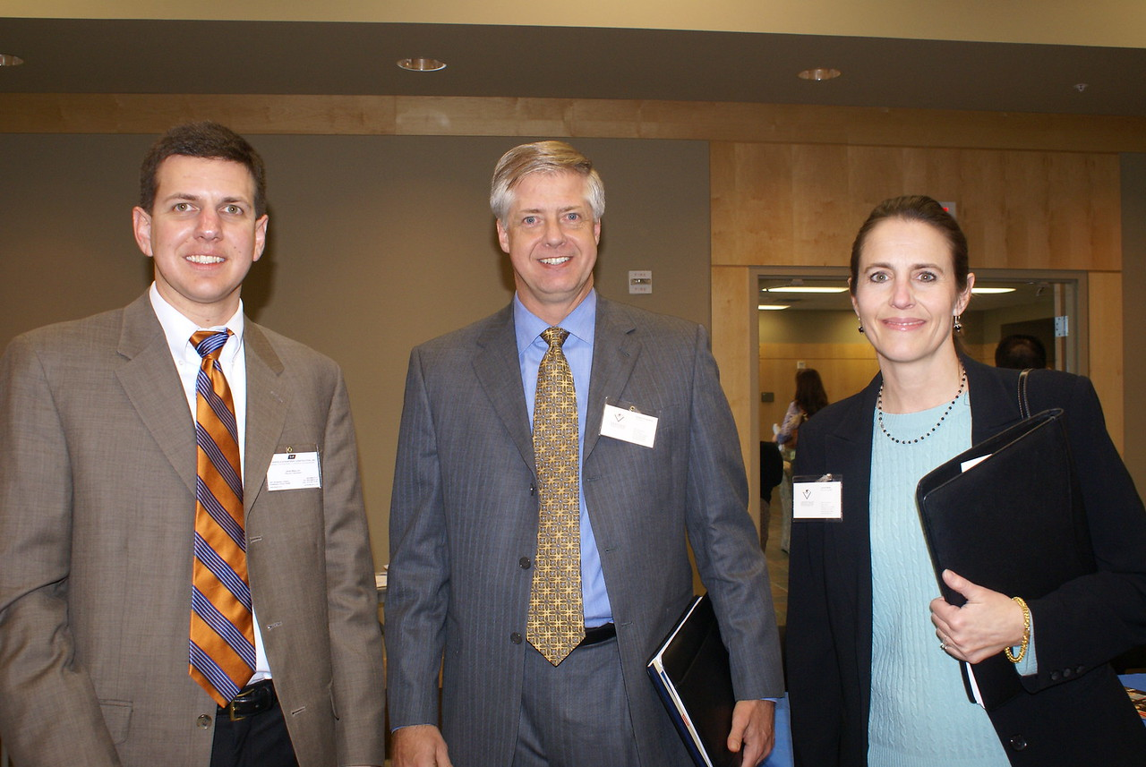 John Smalley, Satterfield & Pontikes Construction with Ken Monson and Lisa Buck with Veritas Advisory Group