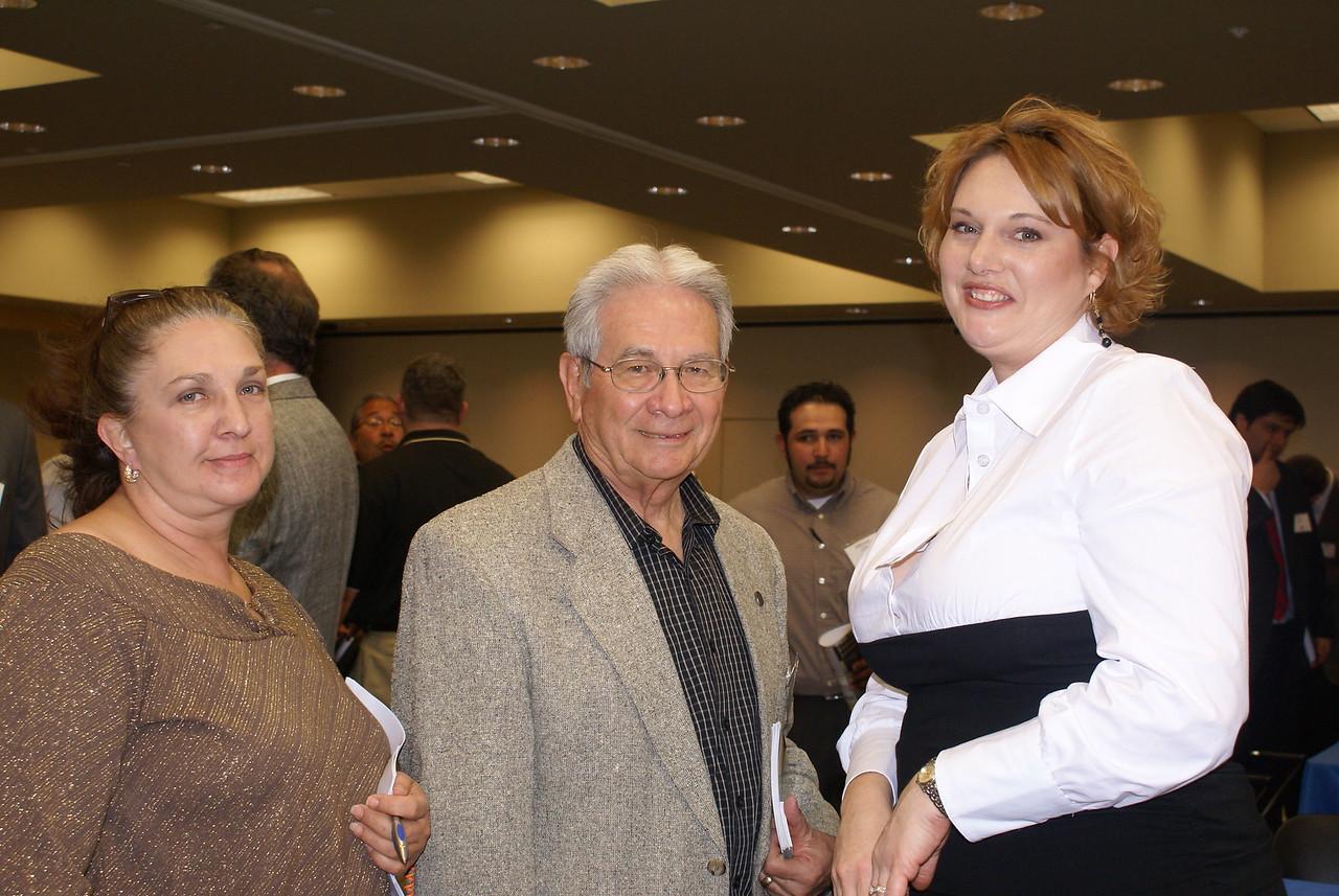 Sandra Bell, H & K Environmental; HCADFW Board Secretary Hank Lopez, ABLe Communications; and Stephanie Long, Cadence McShane Corporation (DCCCD CM)