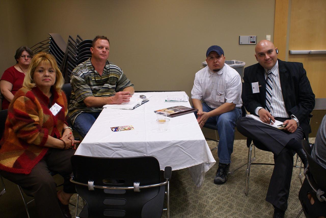 Pat Gorman, Pegasus Texas Construction, LP part of the DCCCD CM team meets with HCADFW Members.