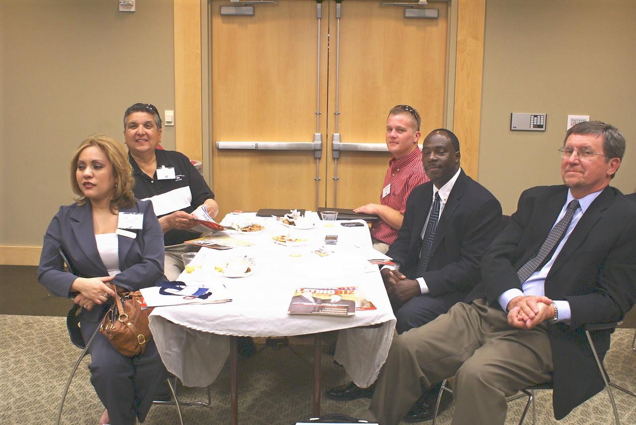 Veronica Wallace, Accion Texas; Art Lopez and T. David Sledge, Premier Erosion Control; Eugene Walker, Austin Industries; and Colin A. Graidage, Contractors Development Alliance