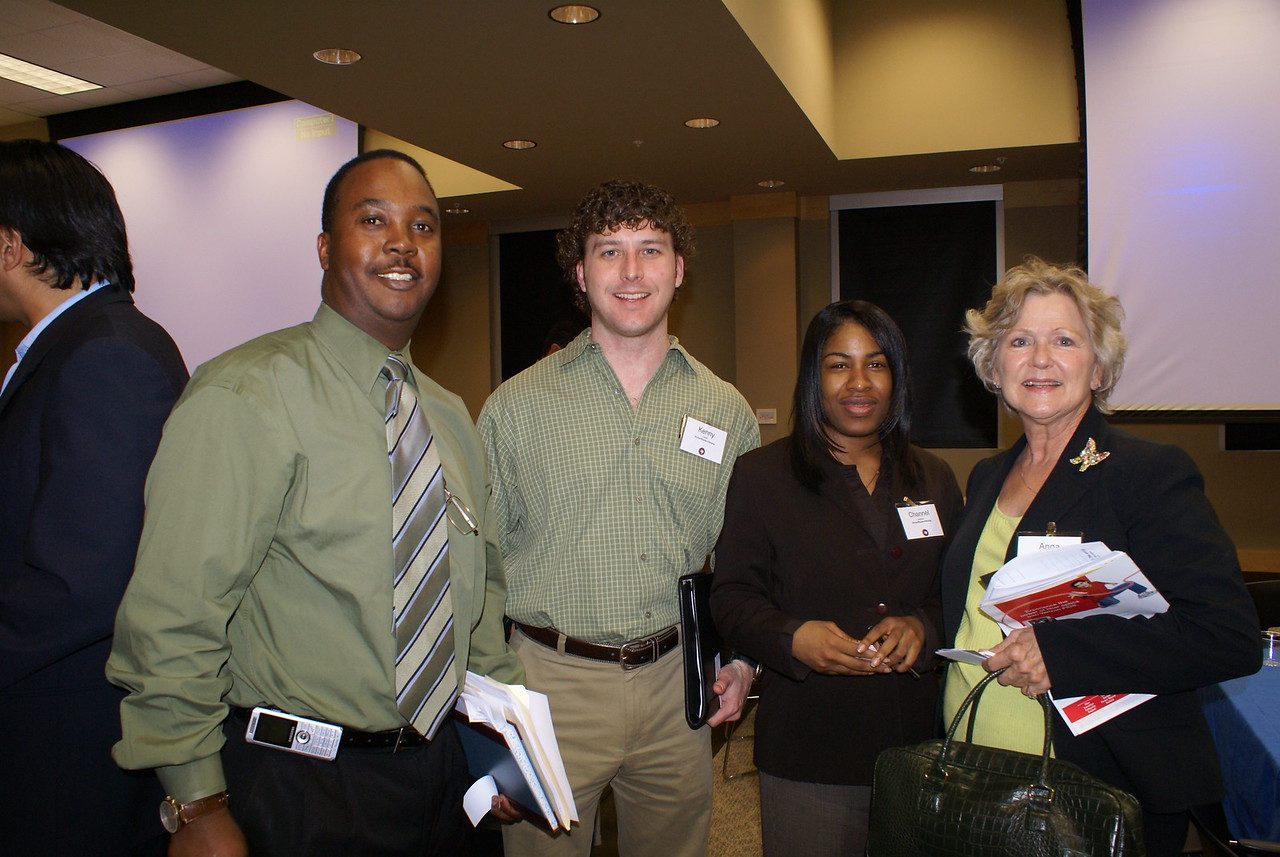 HCADFW Guest; Kenny Crabb and Channel Jackson with Archer Wester-Herzog; and Anna Symank, C2 Flooring