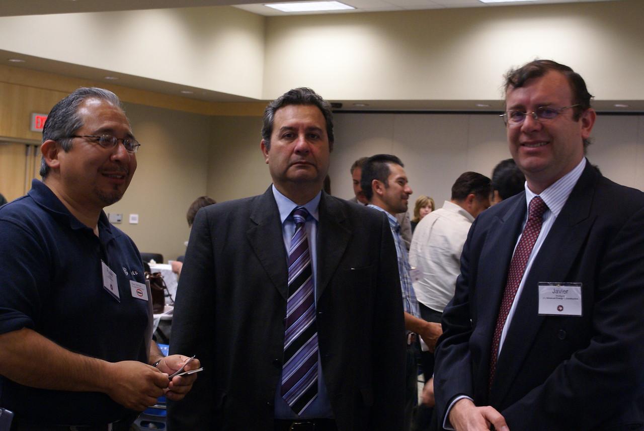 Ruben Martinez, ICI Paints, HCADFW Guest; and Javier Rodriguez, J L Advanced Energy & Cconstruction Ltd. Co.