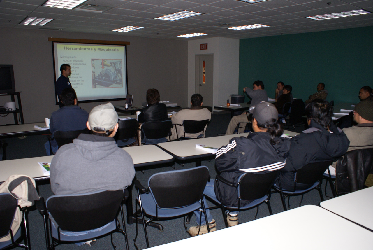 Manny Rodriguez with TAS Concrete Volunteers to Teach a HCADFW Safety Class