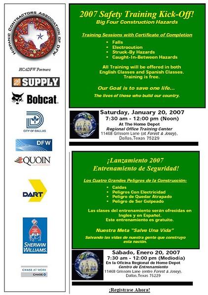 HCADFW Safety Training w/ Home Depot Jan 20, 07