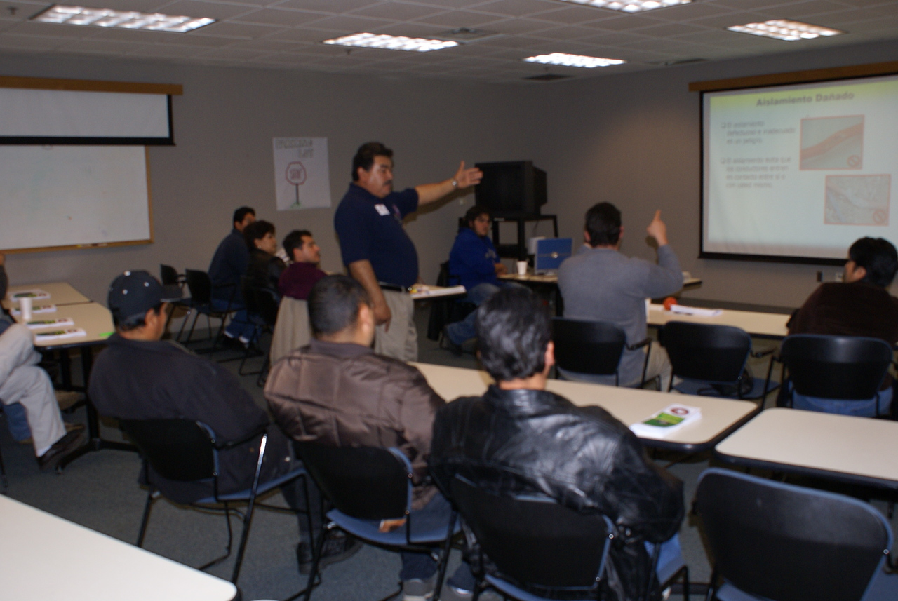 Cencho Medrano with Centex volunteers to teach a HCADFW Safety Class