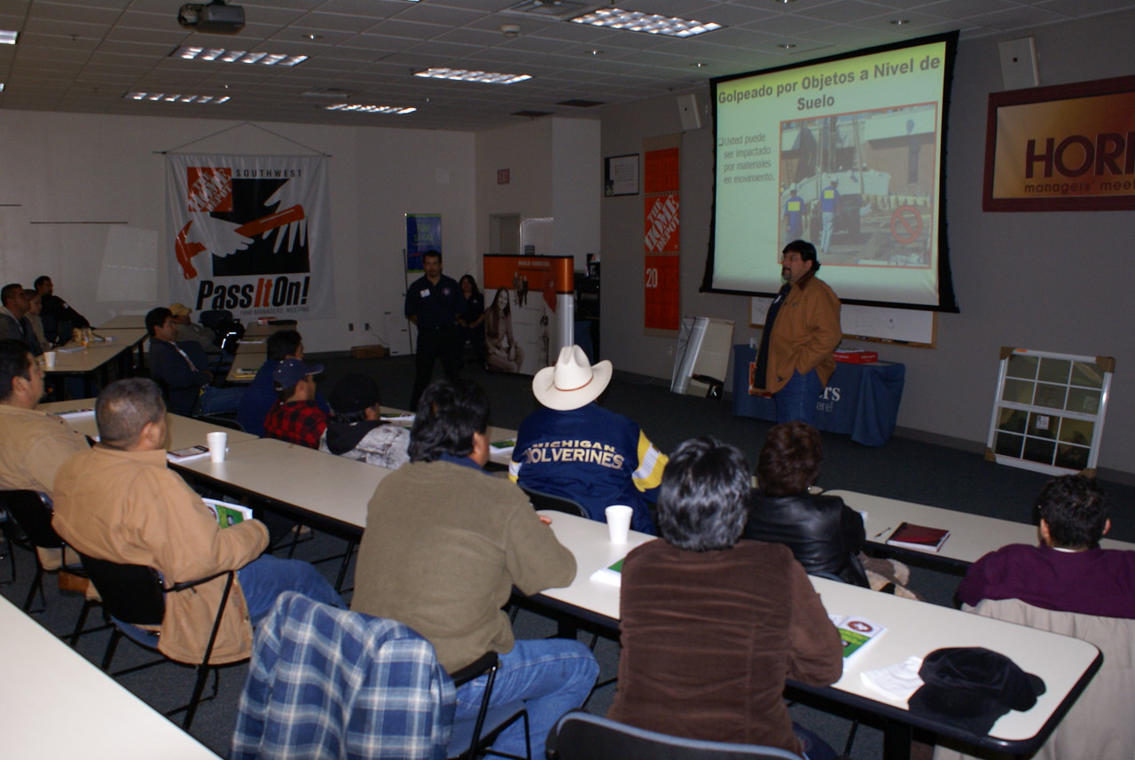 Rene Rodriguez with Christian Safety volunteers to teach a HCADFW Safety Class