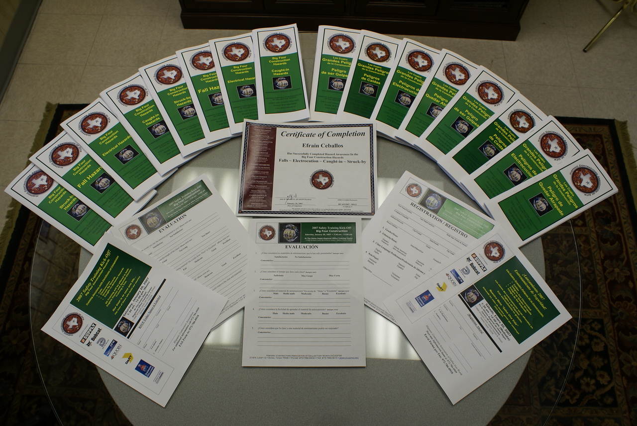 Training Materials Developed by the HCADFW for OSHA - Used Nationally