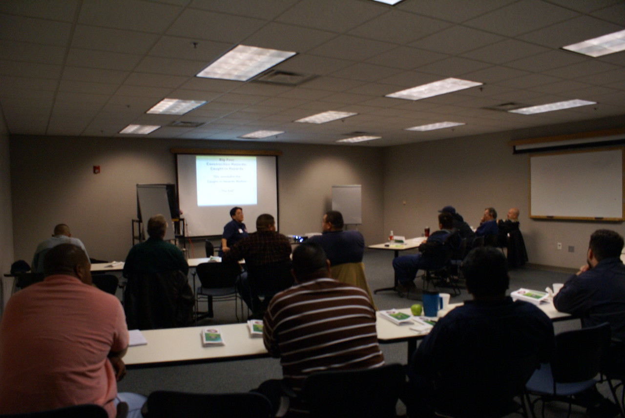 Ruth Rodriguez with OSHA Volunteers to Teach a HCADFW Safety Class